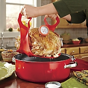Silicone Turkey Lifter with Roasting Thermometer
