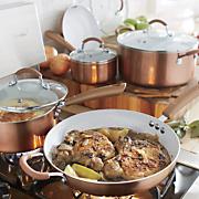 ginny s brand 9 pc  ceramic nonstick aluminum cookware set
