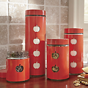 Set of 4 Apple Canisters