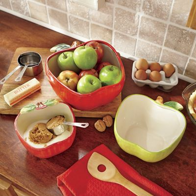 3-Piece Apple Bowl Set