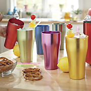 Set of 6 Flared Aluminum Tumblers