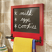 towel holder chalkboard