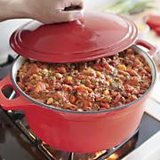 7 qt  cast iron casserole with lid