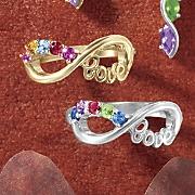 Birthstone Infinity/Love Ring