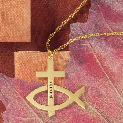 Name Cross/Ichthus Pendant