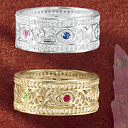 birthstone family filigree band