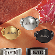stainless steel name disc ring
