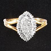 diamond marquise cluster ring 47