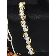 diamond round cluster bracelet 77