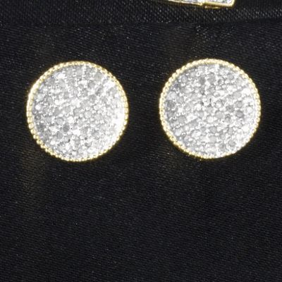 Diamond Cluster Round Post Earrings