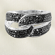 black diamond double loop ring