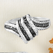black diamond ripple ring