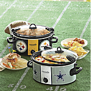 nfl 6 qt  cook  n carry slow cooker by crock pot