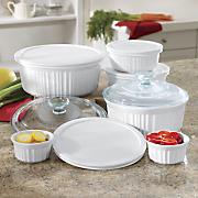 12 pc  ceramic bakeware set by corningware