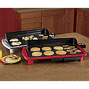 Oversized Electric Griddle with Splash-Guard by Elite