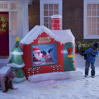 Santa's Workshop Inflatable