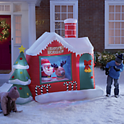 santa s workshop inflatable