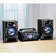 full size music system with bluetooth and light effects by akai