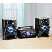 Full-Size Music System with Bluetooth and Light Effects by Akai