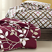 printed microfiber flannel sheet set