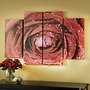 Set of 4 Rose Art Wall Canvas