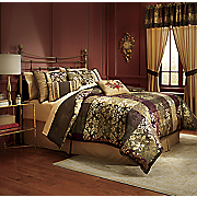 Duval Jacquard 7-Piece Bed Set and Window Treatments