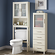 Frosted Panel Bathroom Storage