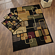 geo time 3 pc  rug set