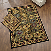 medallion row 3 pc  rug set