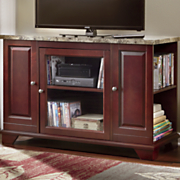 TV Stand with Marble-Look Top