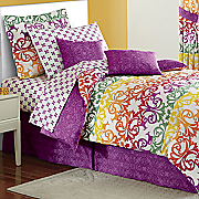 Tivoli Tile Complete Bed Set, Decorative Pillow and Window Treatments