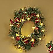 christmas ball spiral lighted wreath