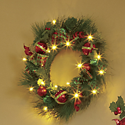 christmas ball spiral lighted wreath