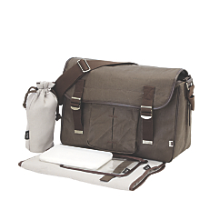 oioi canvas satchel diaper bag