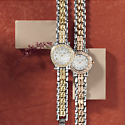 women s personalized round crystal bracelet watch