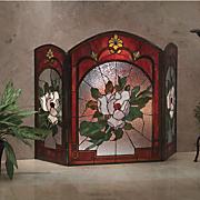 magnolia fireplace screen 91