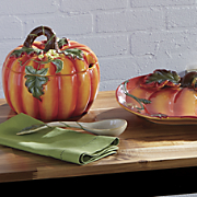 harvest pumpkin platter   tureen