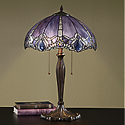 iridescent tiffany style lamp