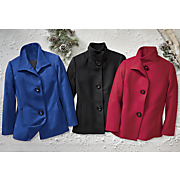 keira button front wool coat