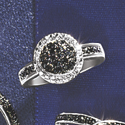 black diamond round cluster ring 48