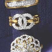 diamond circle link ring