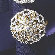 diamond vintage floral ring