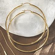 Diamond-Cut Large Hoops