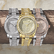 personalized crystal bracelet watch