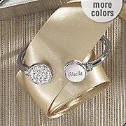 personalized crystal hinged bangle