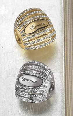 Personalized Crystal Stretch Ring