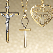 14k gold ankh cross pendant