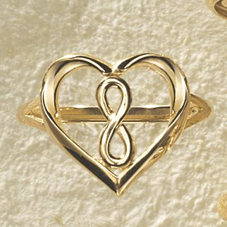 Gold Heart/Infinity Ring