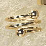 14k gold wrap ball ring