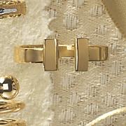 14K Gold T-Bar Ring